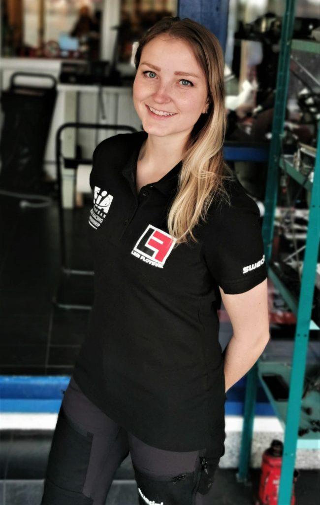 Linn Fløysvik i Swedol arbeidsklær