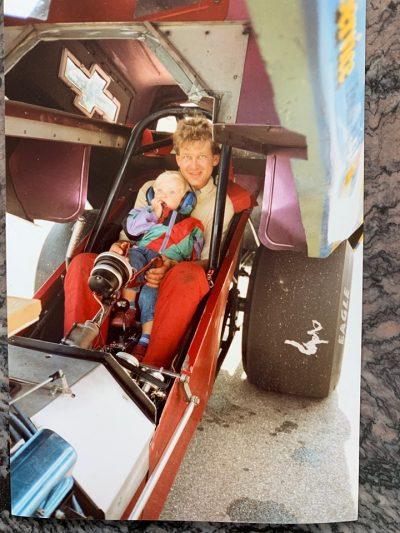 Tore Karlsen and Linn Fløysvik in their old Vega Funny Car